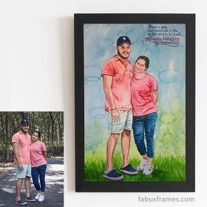surprise Anniversary Gift Options for Husband Watercolor Painting